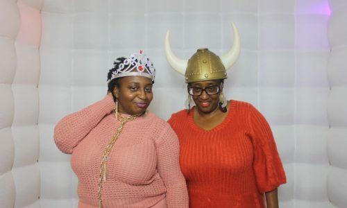 tiara and viking hat props