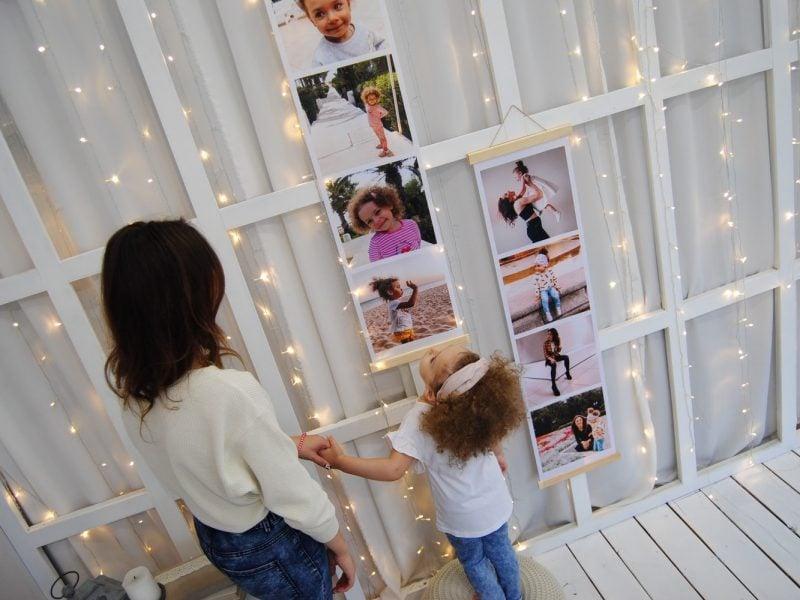 photo strip wall