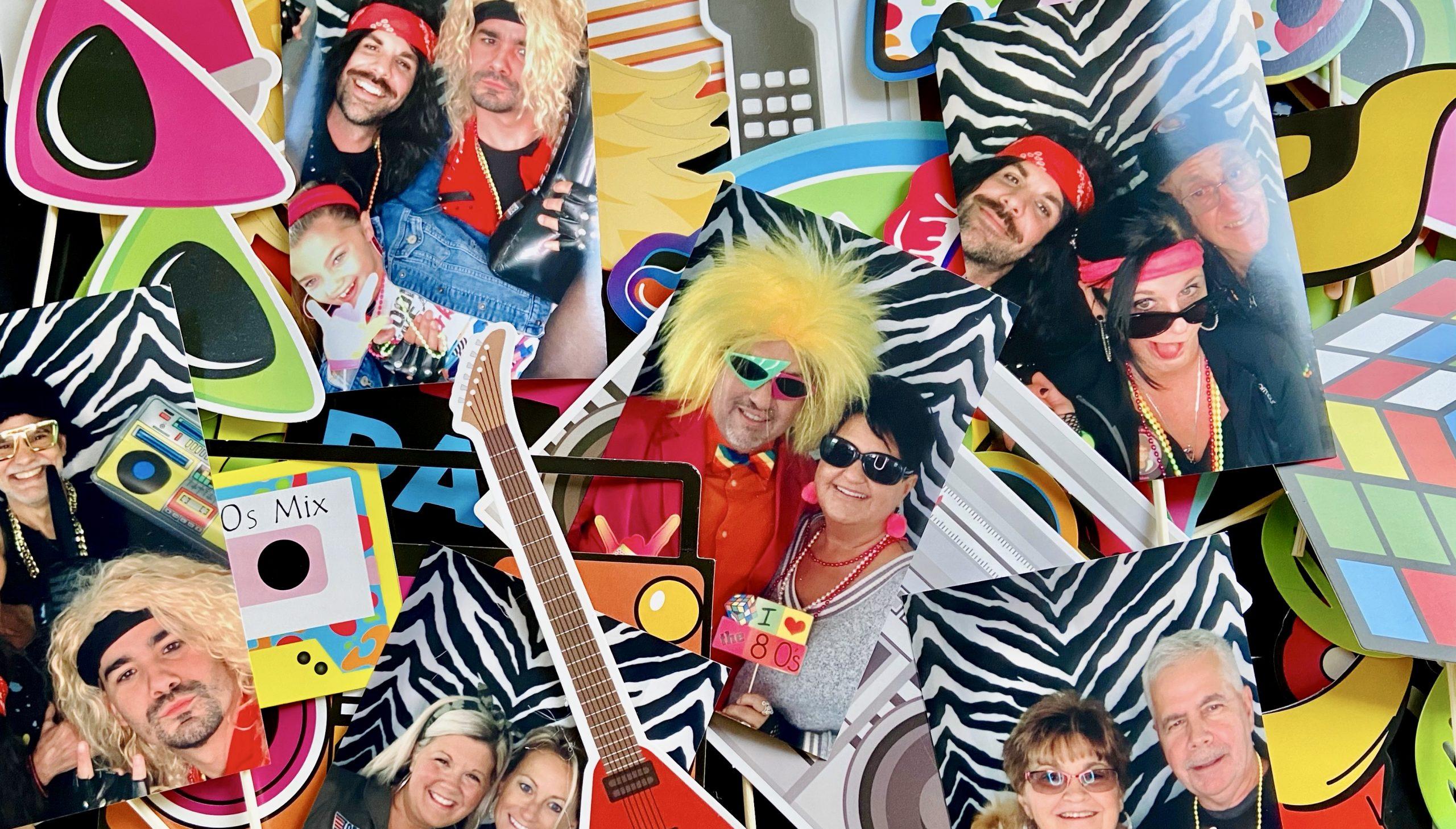 80s birthday photo collage