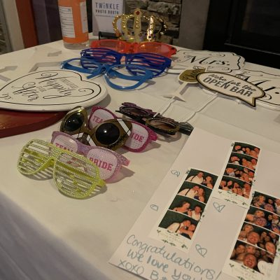 wedding photo booth rental props